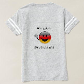 mujeres de la camiseta de Deutschland de los geht