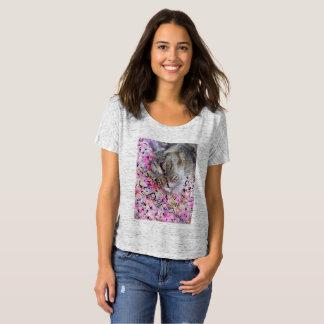 Mujeres de la camiseta del Daydreamer del gato