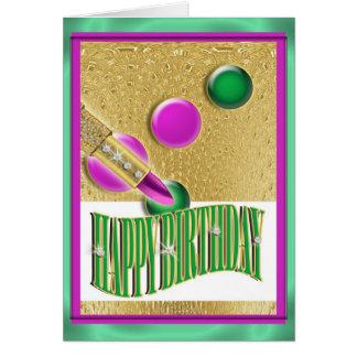 """Mujeres de los chicas del """"feliz cumpleaños"""" tarjeta de felicitación"""