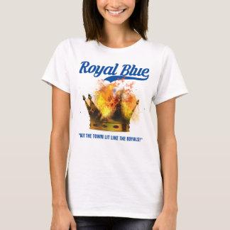 Mujeres del azul real camiseta