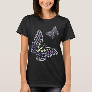 Mujeres del diamante de Butterflys del diamante Camiseta