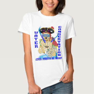 MUJERES del español de Pirata del agua de Camiseta