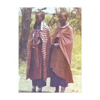 Mujeres del Masai Impresion De Lienzo