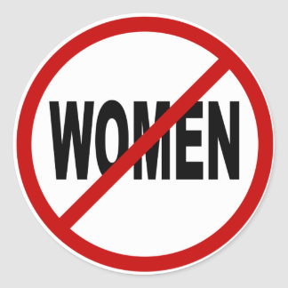 Mujeres del odio Women/No no prohibidas la Pegatina Redonda