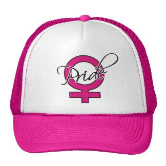 Mujeres del orgullo gorras de camionero