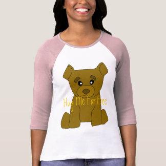 Mujeres del oso de Brown 3/4 plantilla de la Camisas