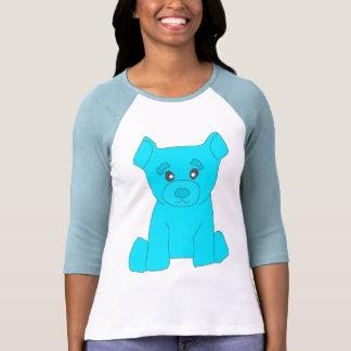 Mujeres del oso de la turquesa 3/4 camiseta del