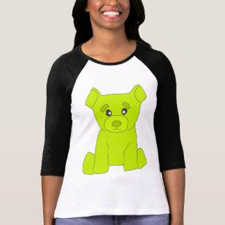 Mujeres del oso del verde de Fluo 3/4 camiseta de