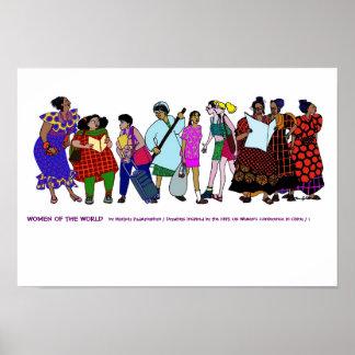Mujeres del POSTER del mundo - 1 Póster