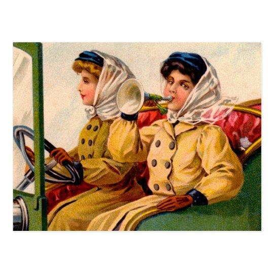 Mujeres del Victorian del vintage que negocian la Postal