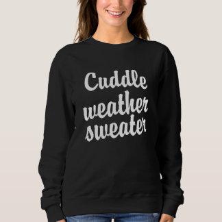 Mujeres divertidas del suéter del tiempo de la