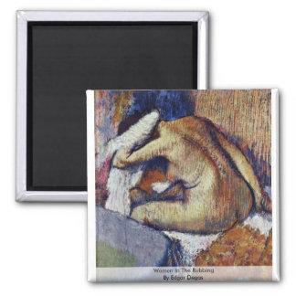 Mujeres en el frotamiento de Edgar Degas Iman De Frigorífico