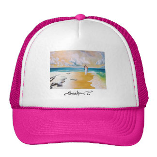Mujeres en el gorra de la playa