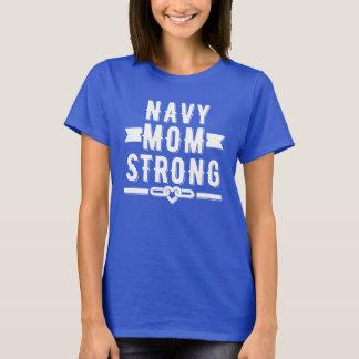 Mujeres fuertes de la mamá de la marina de guerra camiseta