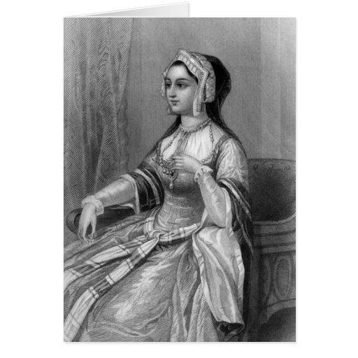 Mujeres históricas - Ana Bolena Tarjeton