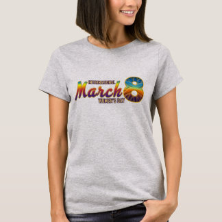 Mujeres internacionales día camisetas del 8 de