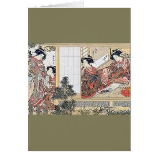 Mujeres japonesas tarjeta de felicitación