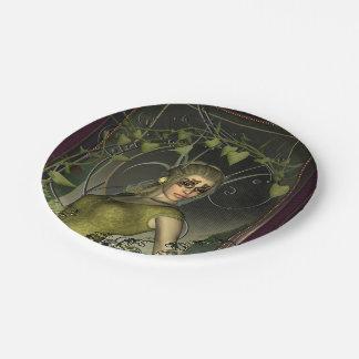 Mujeres maravillosas de la fantasía con las hojas plato de papel