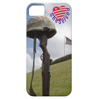 ¡Mujeres militares, SheServed su país también! iPhone 5 Case-Mate Protectores