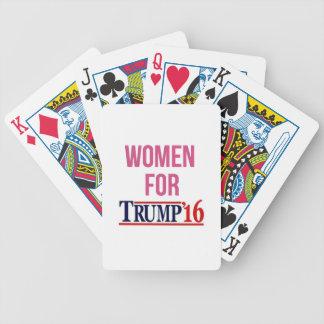 Mujeres para el triunfo baraja de cartas bicycle