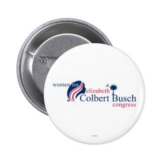Mujeres para Elizabeth Colbert Busch Chapa Redonda De 5 Cm