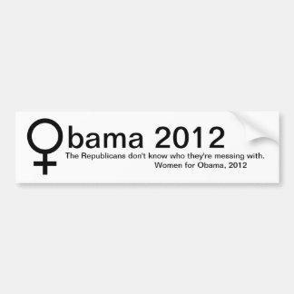 Mujeres para Obama Pegatina Para Coche