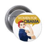 Mujeres para Obama retro Pins