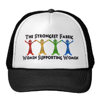 Mujeres que apoyan a mujeres gorras de camionero
