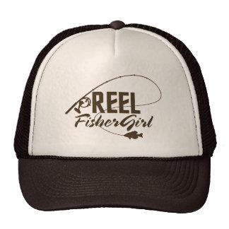 Mujeres que pescan el gorra Brown