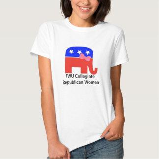 Mujeres republicanas colegiales camiseta