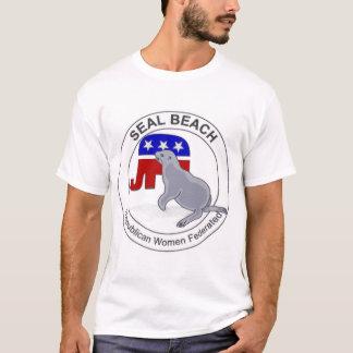 Mujeres republicanas de la playa del sello camiseta