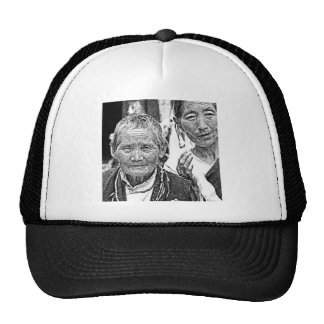 Mujeres tibetanas gorras