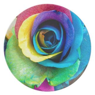 ¡Mulit-Coloreado color de rosa por SnapDaddy, Plato Para Fiesta