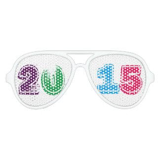 Multi del Año Nuevo 2015 coloreada Gafas De Sol