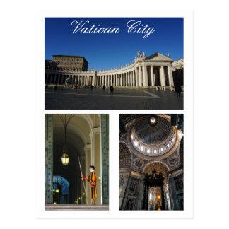 Multi-vista de la Ciudad del Vaticano Postal