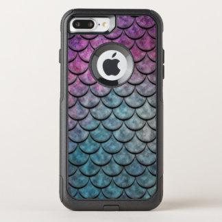 Multicolor 4 del modelo de las escalas de pescados funda commuter de OtterBox para iPhone 8 plus/7 pl