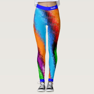 Multicolor abstracto leggings
