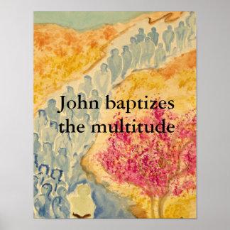 Multitud bautizada póster