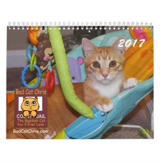 Mún calendario de Chris del gato