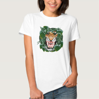 Mún camisetas de la cara del tigre