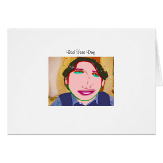 Mún día de la cara tarjeta de felicitación