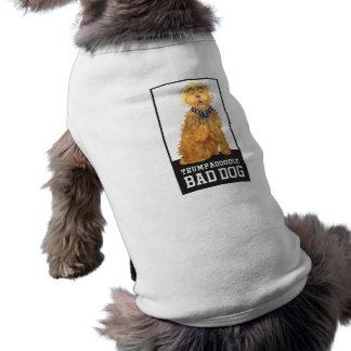 Mún perro de Trumpadoodle - camiseta del perro