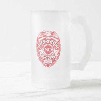 Mún poli ningún buñuelo - rojo taza de cristal esmerilado