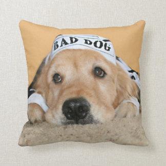 Mún preso del perro del golden retriever cojín