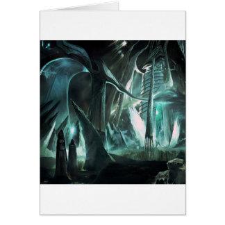 Mundo abstracto del sacerdote de la ciudad tarjeta