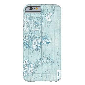 Mundo azul fresco - colección funda para iPhone 6 barely there