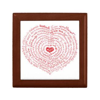 Mundo de la caja del recuerdo del corazón del amor