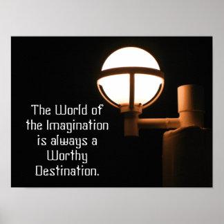 Mundo de la imaginación - cita - impresión del