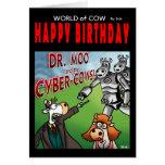 Mundo de la tarjeta de cumpleaños de la vaca - el