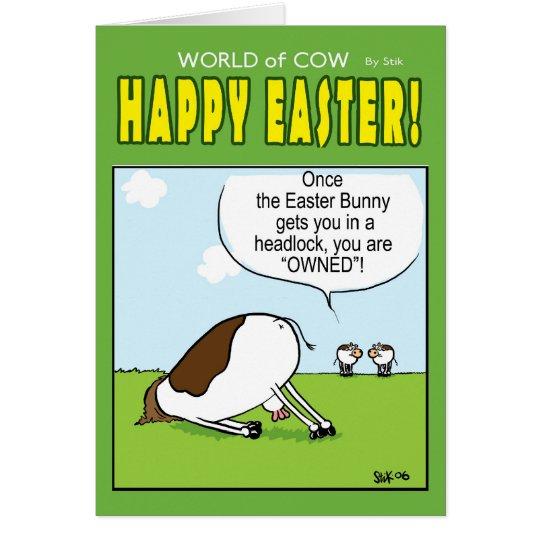 Mundo de la tarjeta de pascua de la vaca